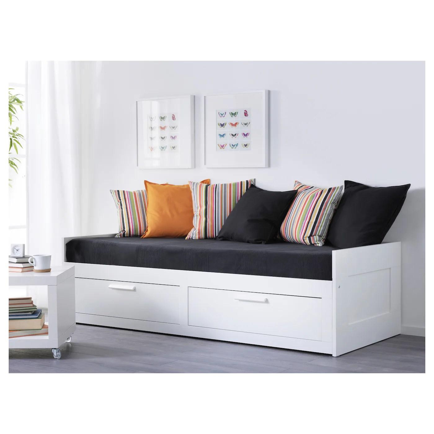 Brimnes Lit D Appoint A 2 Tiroirs Blanc Une Place Ca Fr Ikea