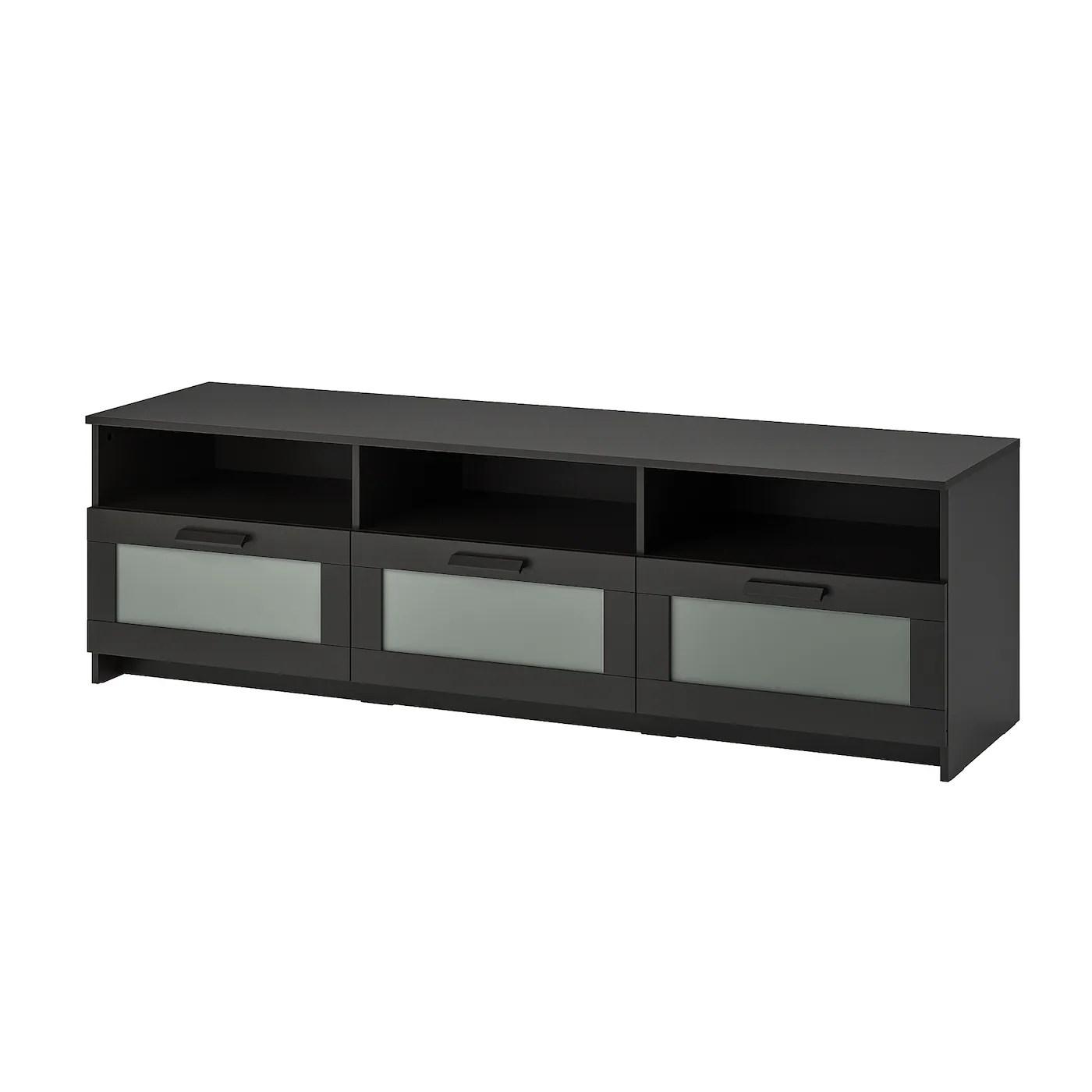 Brimnes Meuble Tele Noir 180x41x53cm Ikea Canada Ikea