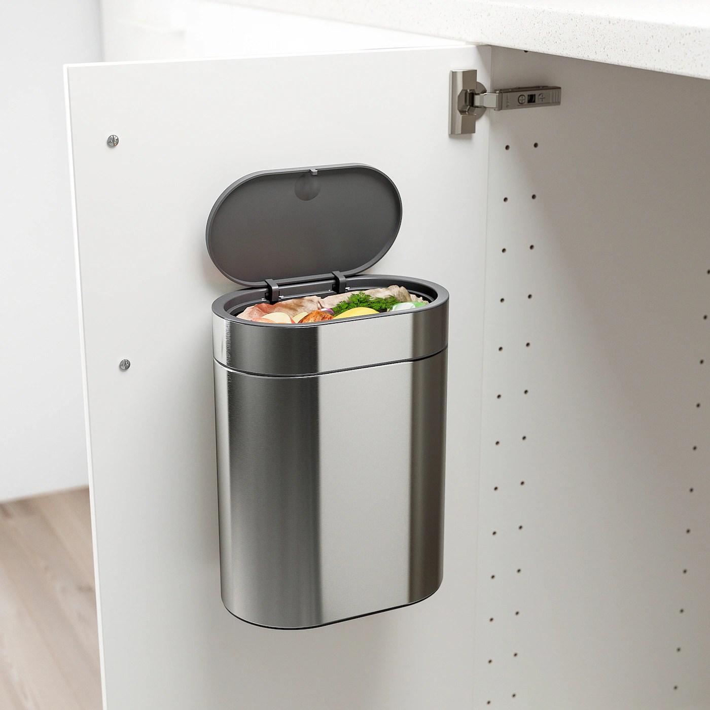 brogrund poubelle ouverture a pression acier inox 1 gallon 4 l