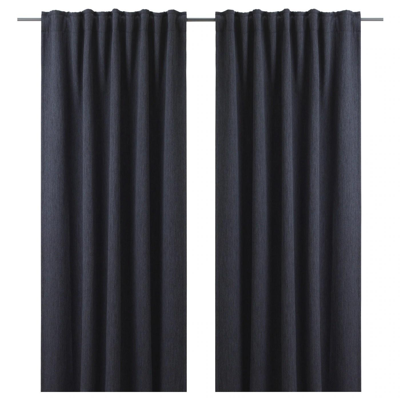 dagoga rideaux opaques 2 panneaux gris bleu 57x98 145x250 cm