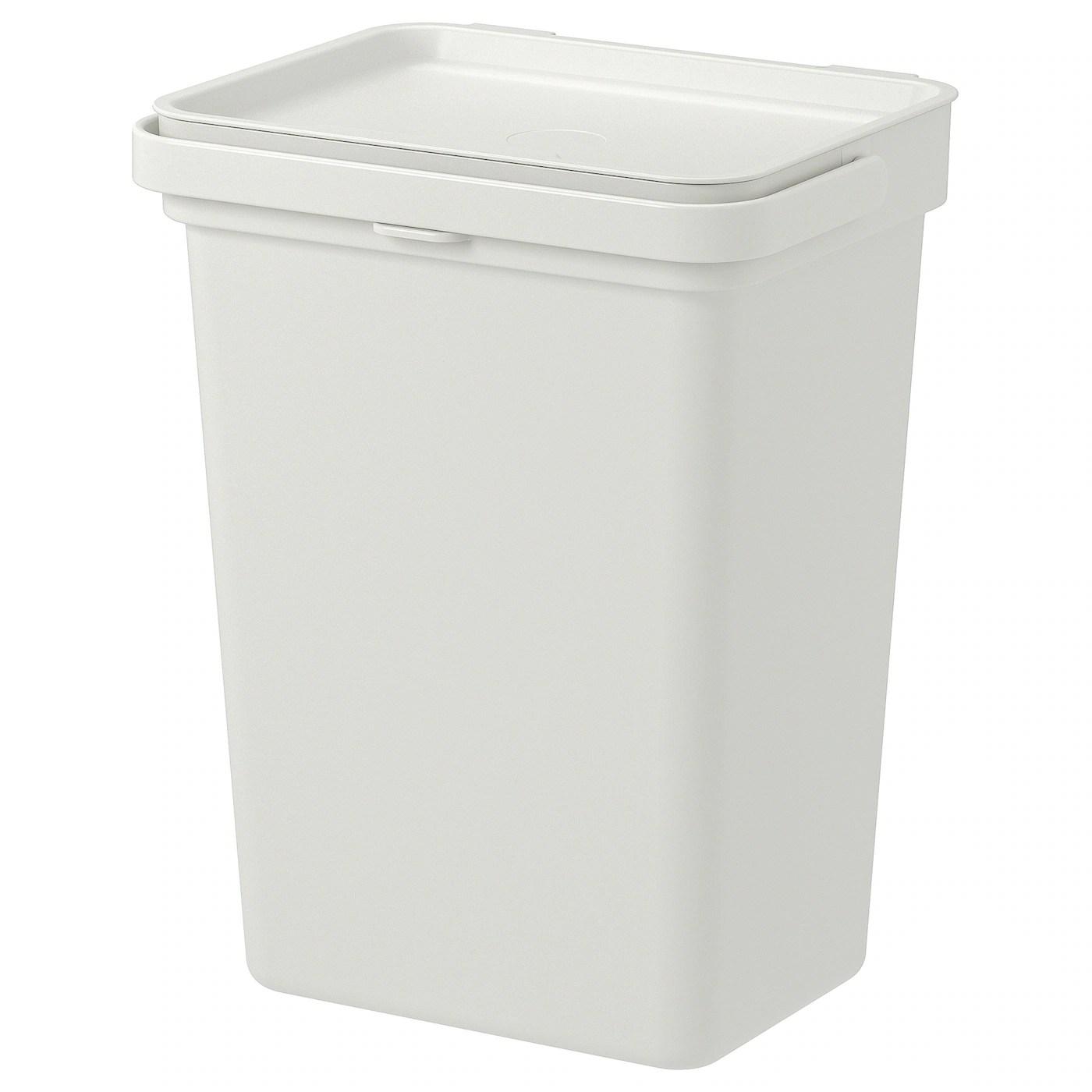 hallbar bac avec couvercle gris clair 3 gallon 10 l