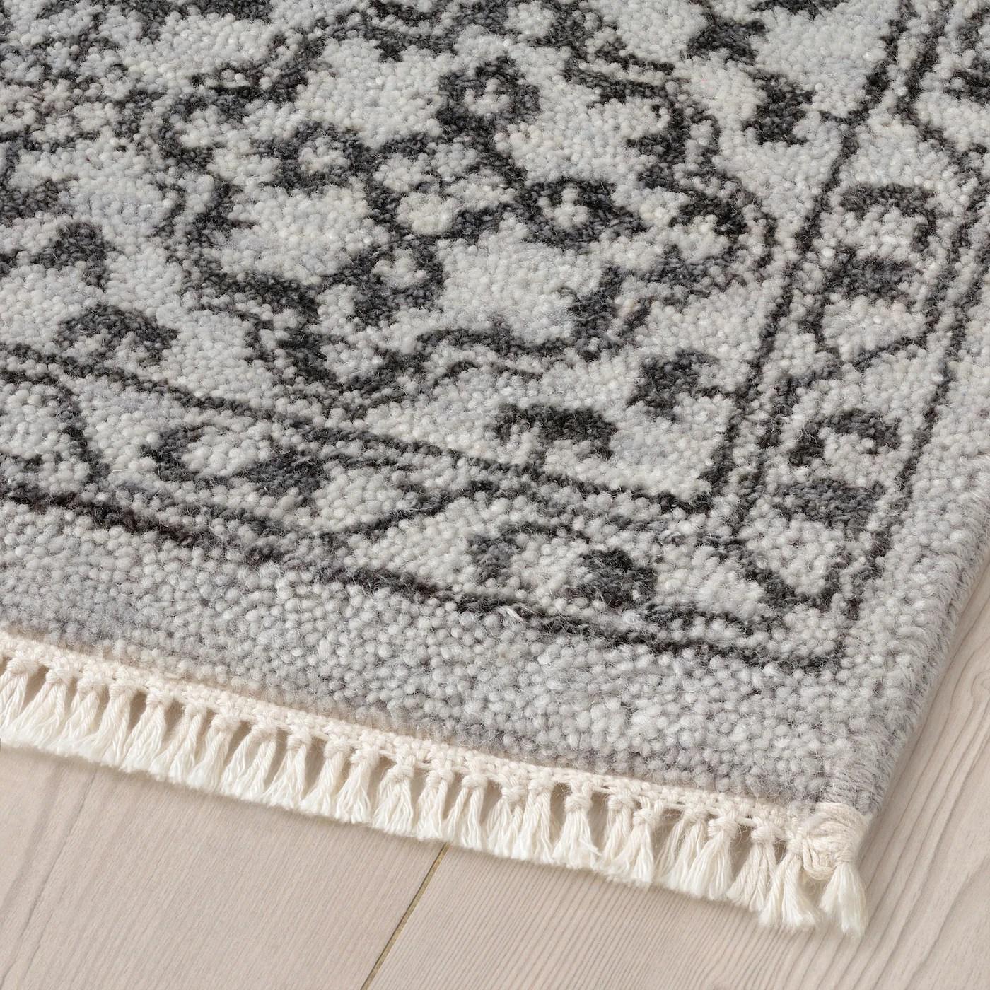 hirtshals tapis poils ras fait main gris argent noir 5 3 x7 7 160x230 cm
