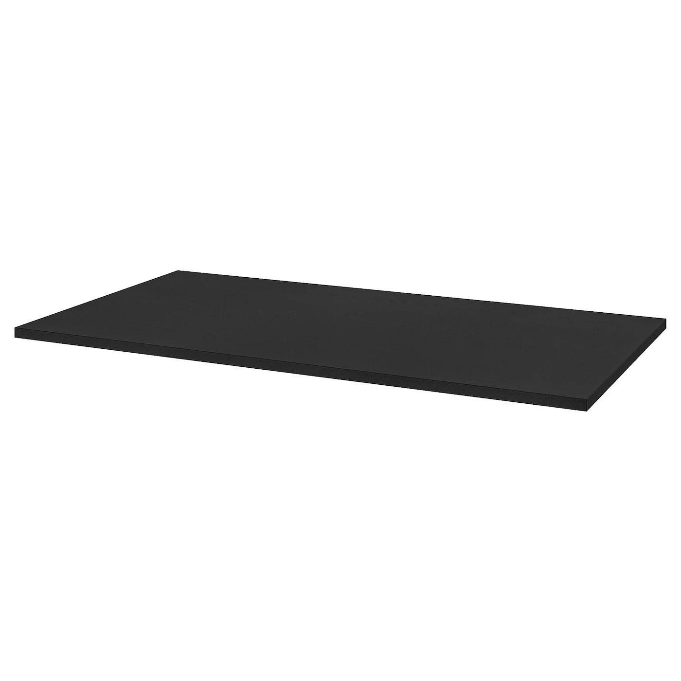 idasen plateau de table noir 63x31 1 2 160x80 cm