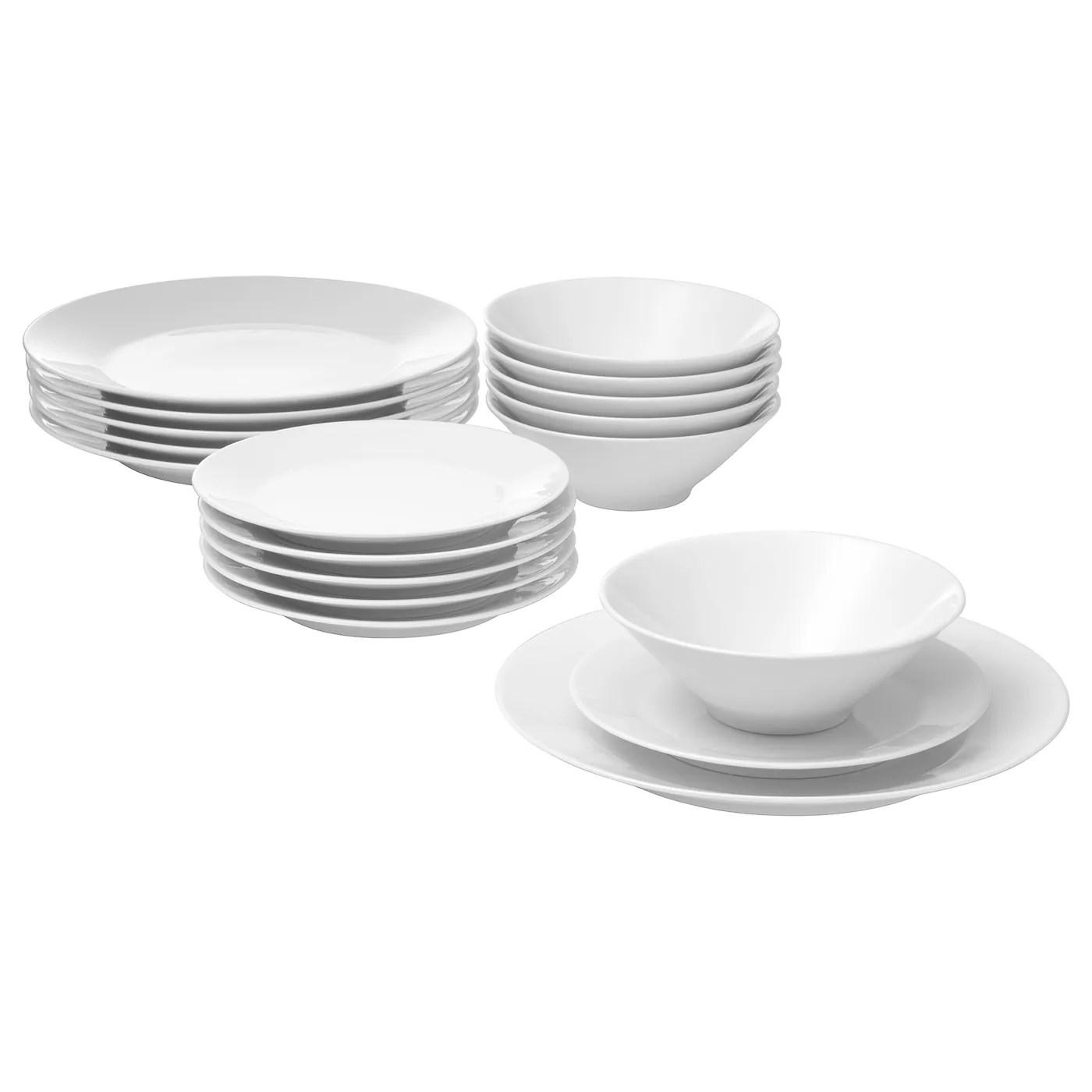 ikea 365 service de vaisselle 18 pieces blanc