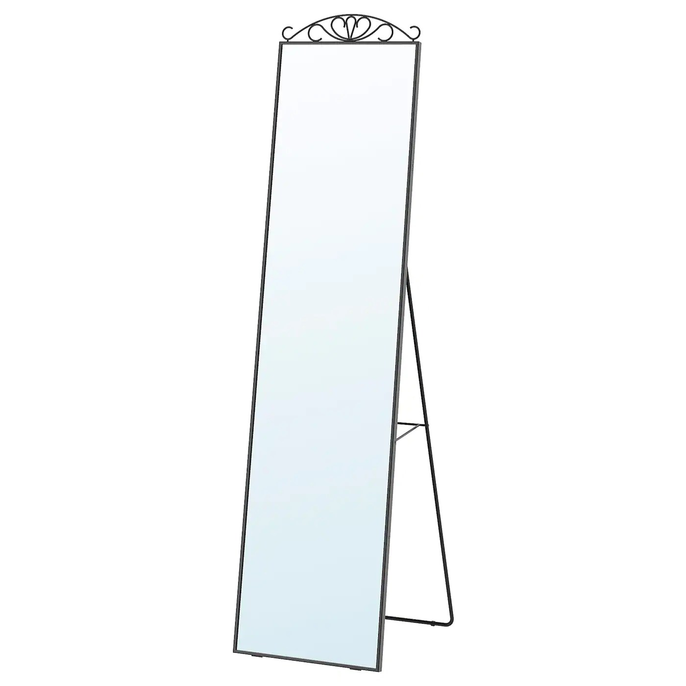 Karmsund Miroir Sur Pied Noir 40x167cm Ca Fr Ikea