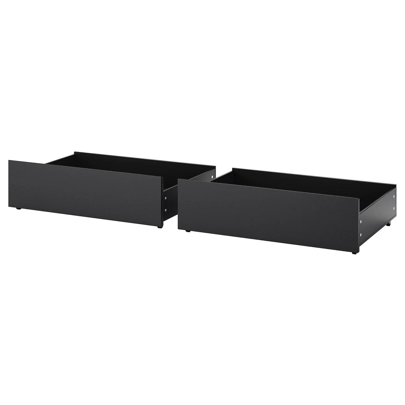 malm tiroir pour lit haut brun noir grand deux places tg deux places