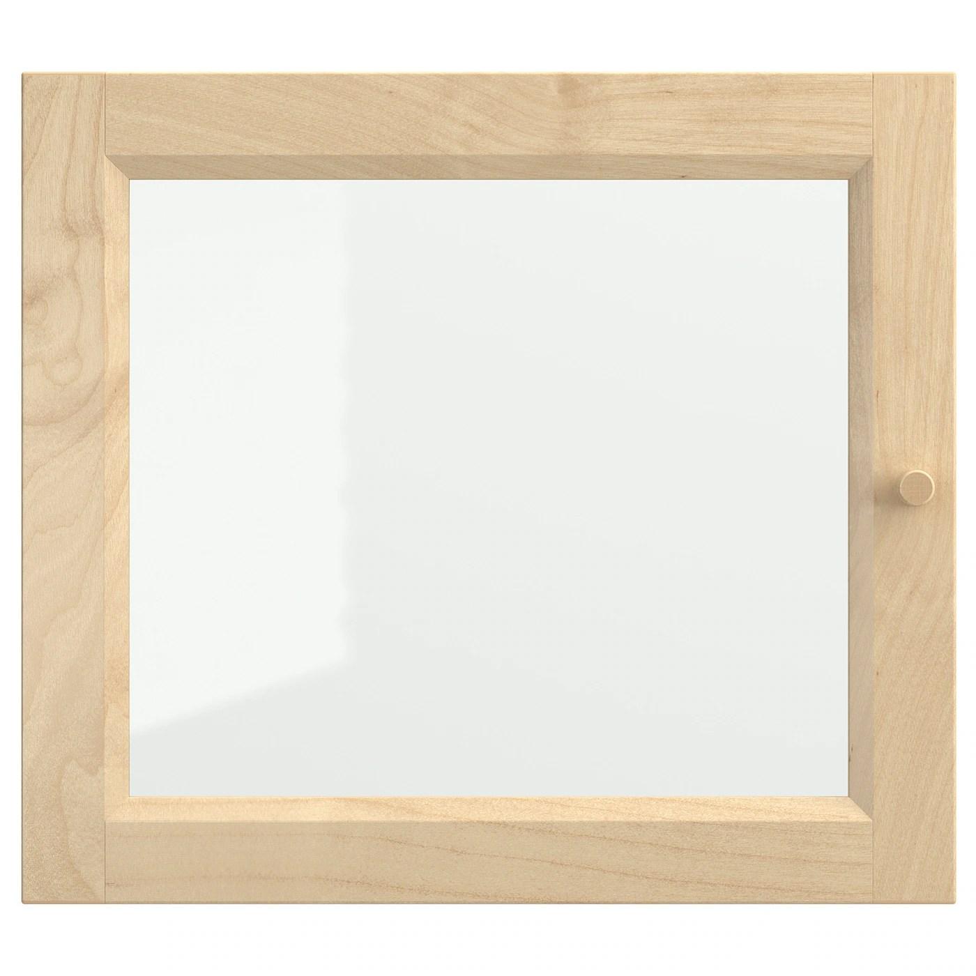 oxberg porte vitree bouleau plaque 15 3 4x13 3 4 40x35 cm
