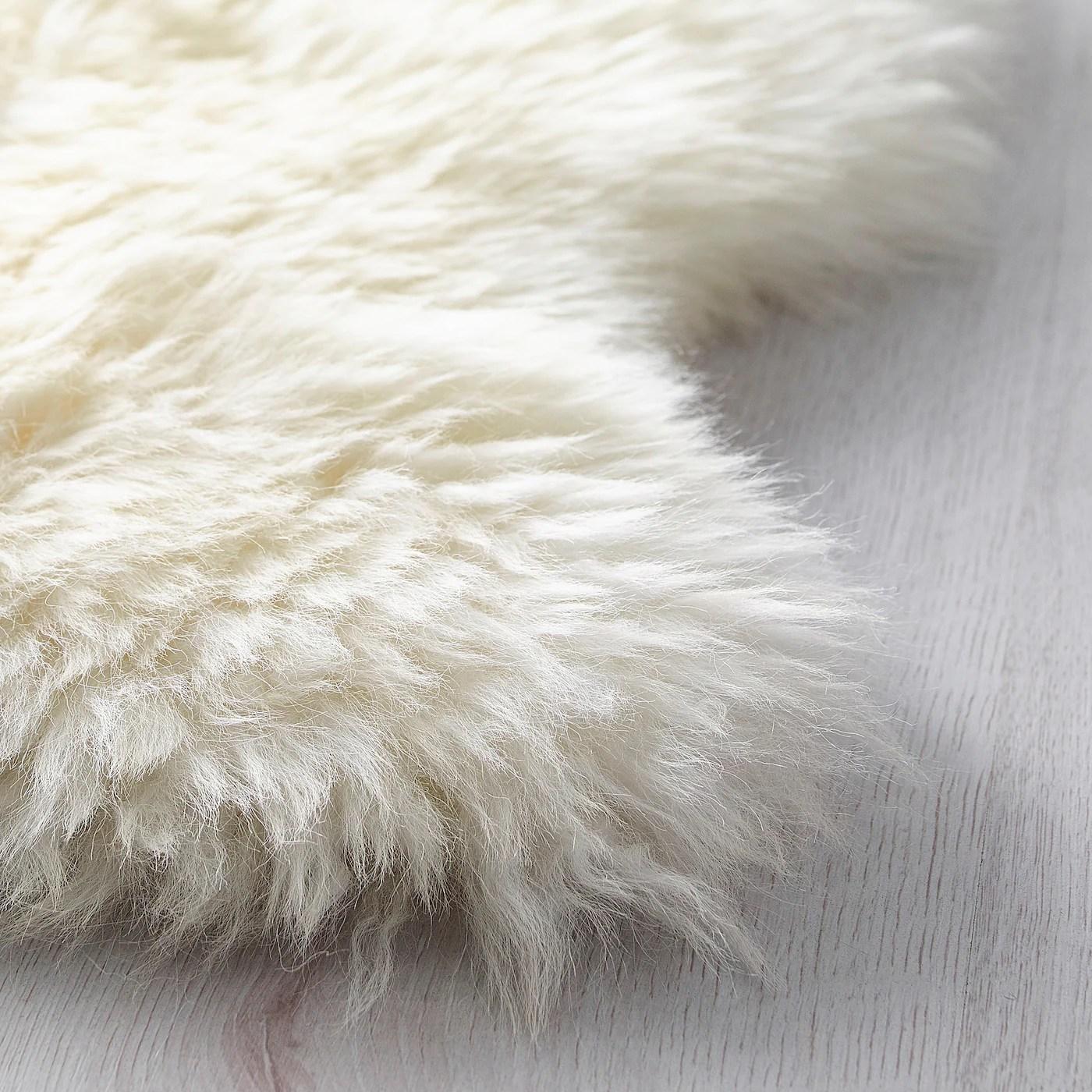 rens peau de mouton blanc