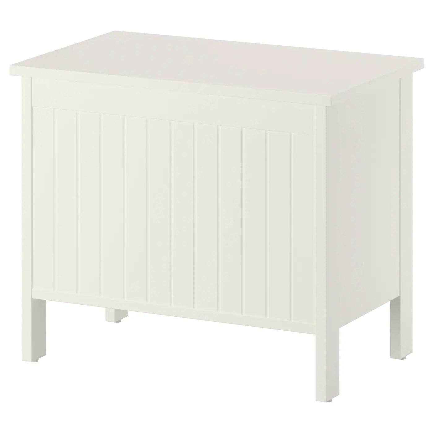 silveran banc coffre blanc