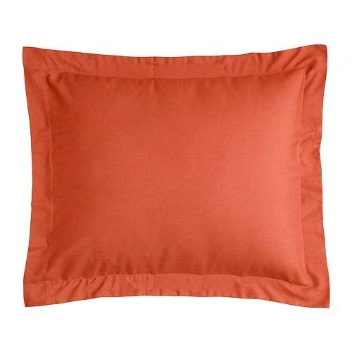 """VILA Couvre-oreiller, rouge orange Longueur: 20 """" Largeur: 30 """"  Longueur: 51 cm Largeur: 76 cm"""