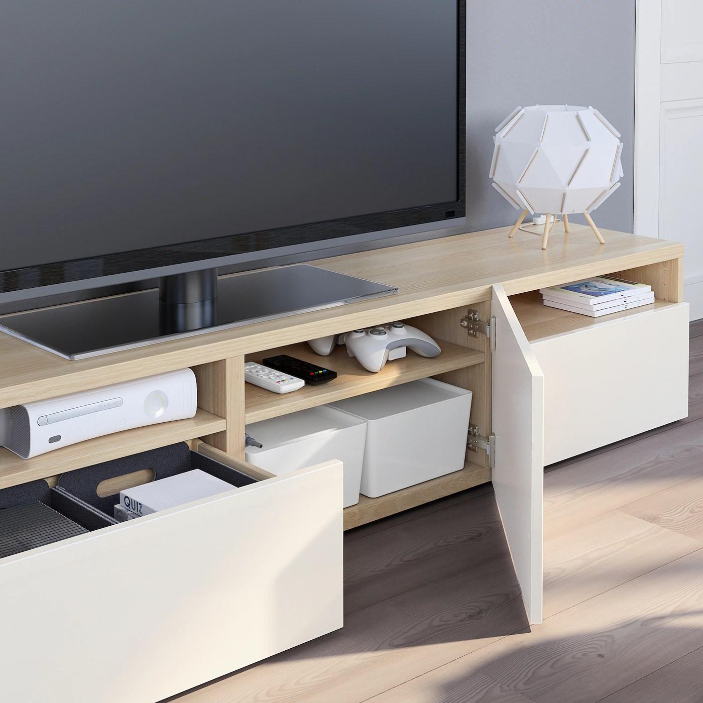 besta tv bank eicheneff wlas selsviken hochglanz weiss 180x42x39 cm
