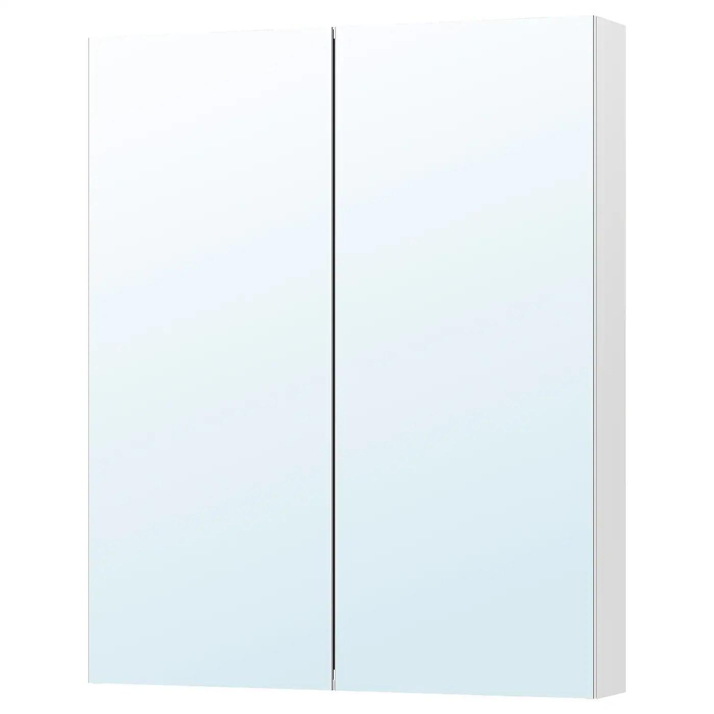 godmorgon meuble a miroir 2 portes 100x14x96 cm