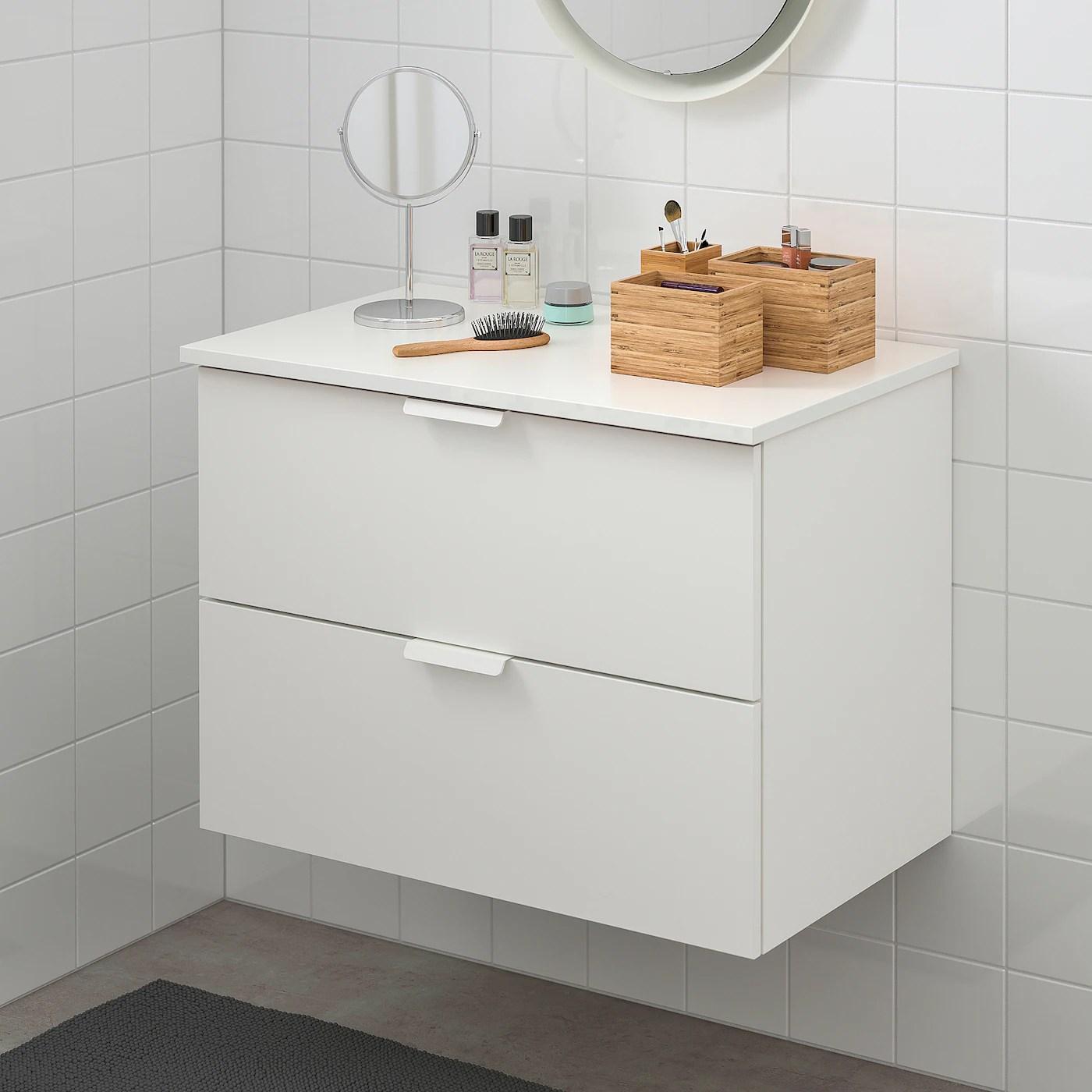 Godmorgon Tolken Meuble Lavabo 2tir Blanc Blanc Ikea Suisse