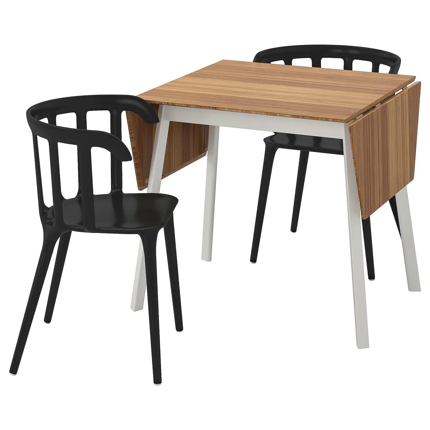 ikea ps 2012 ikea ps 2012 table et 2 chaises bambou noir 74 cm