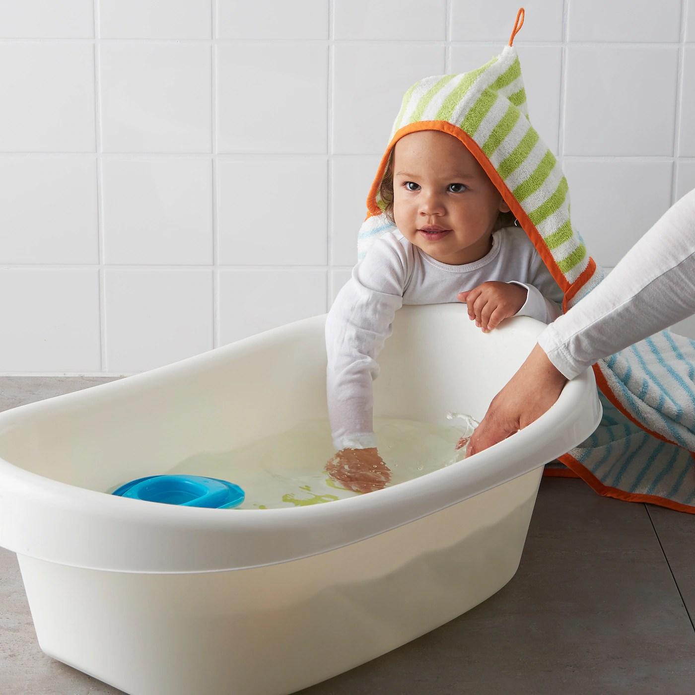 lattsam baignoire bebe blanc vert