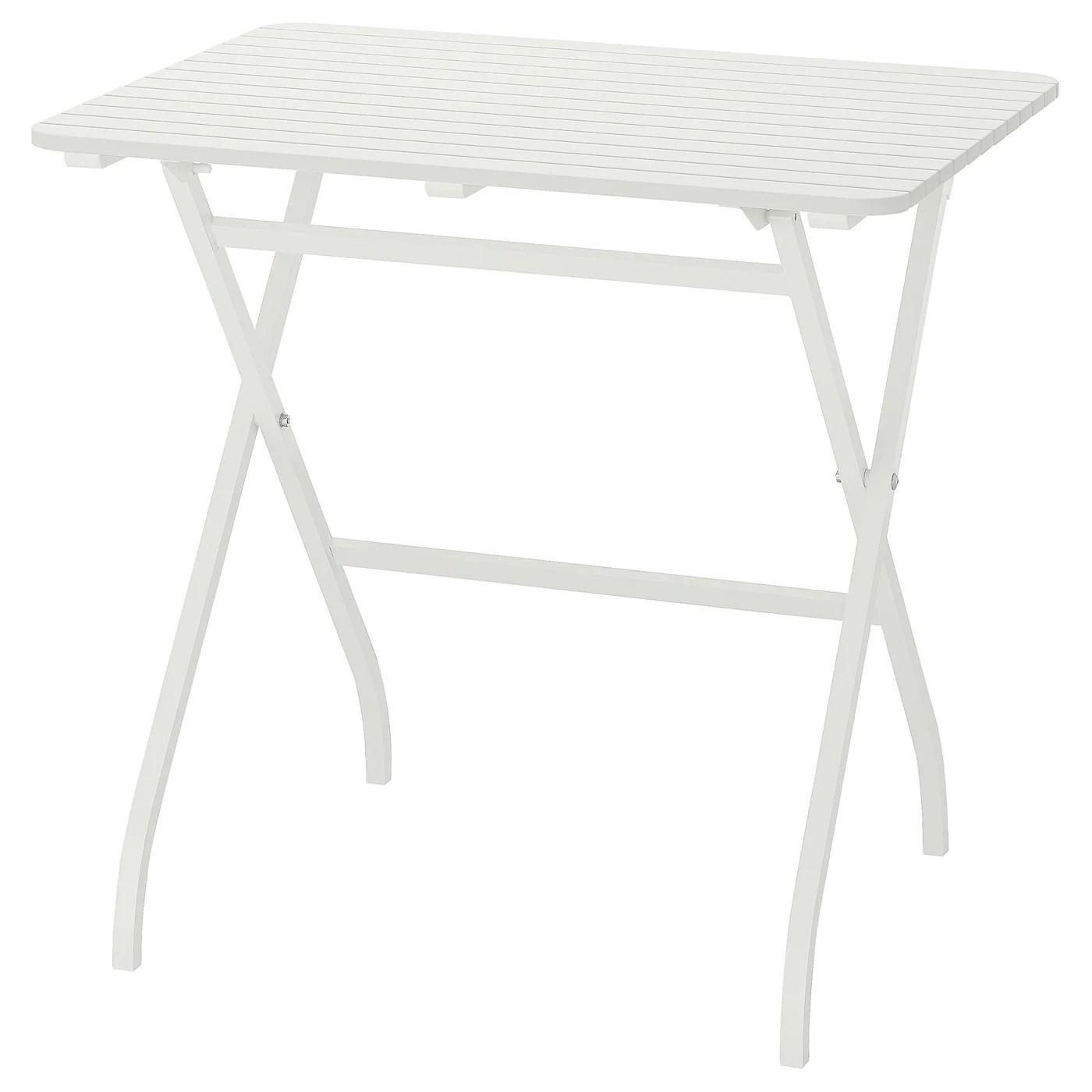 malaro table exterieur pliable blanc 80x62 cm