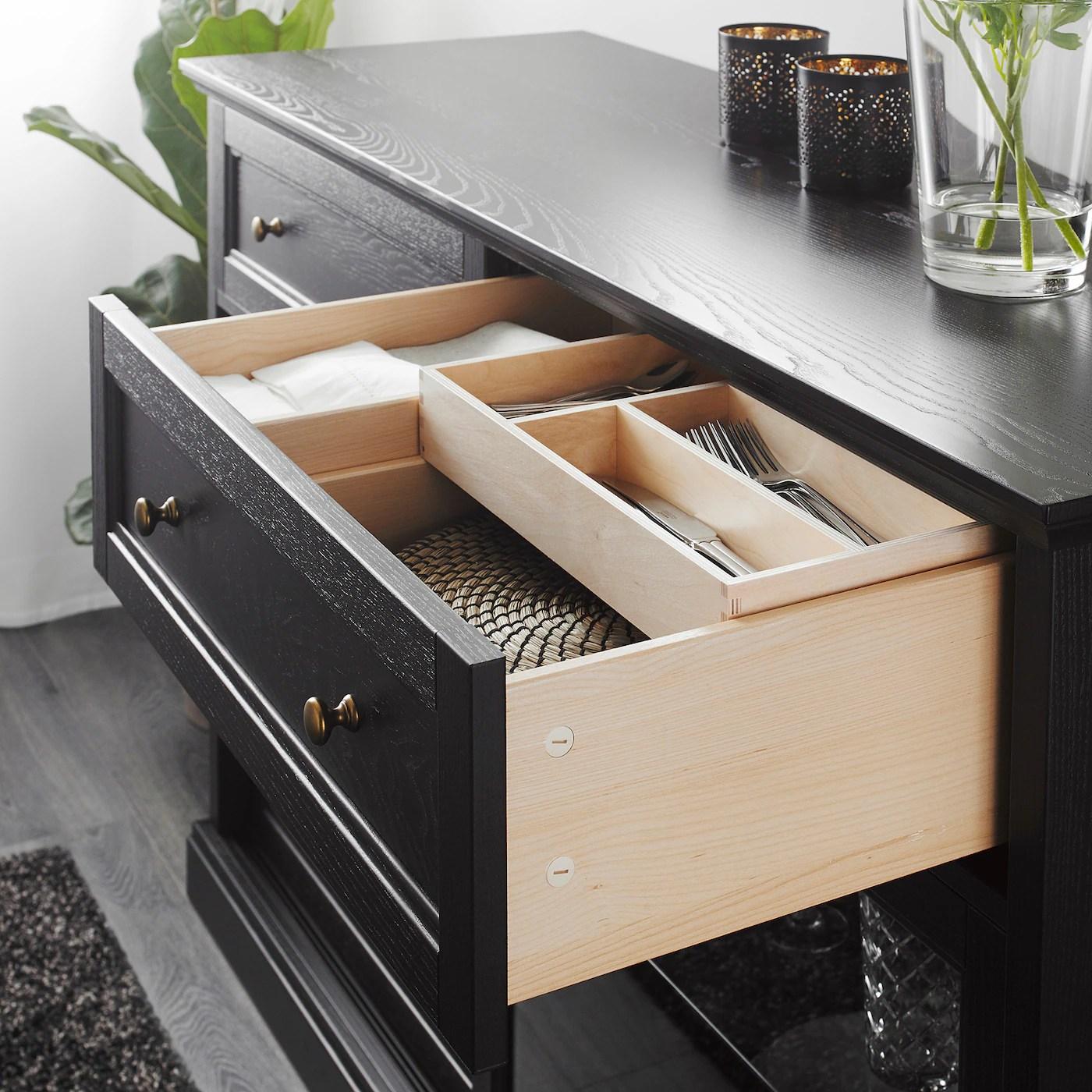 malsjo meuble bas teinte noir 145x92 cm