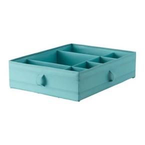 SKUBB Boîte à compartiments IKEA Permet de ranger chaussettes, ceintures et bijoux dans votre armoire ou les tiroirs de votre commode.