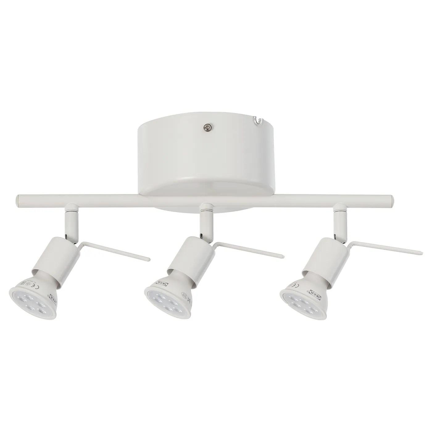 tross rail plafond 3 spots blanc