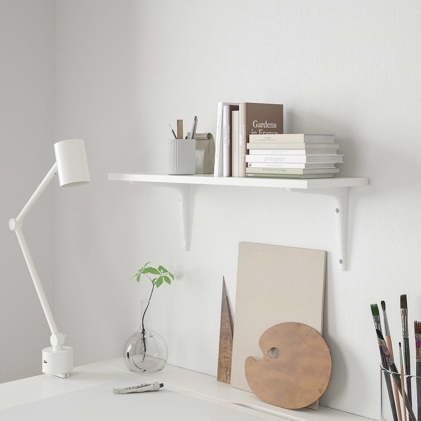 Trattandosi di una mensola angolare le possibilità di scelta su dove. Burhult Sibbhult Mensola E Staffe Bianco Bianco Ikea Svizzera