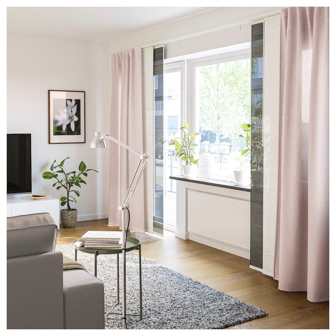 Ideali per arredare un soggiorno moderno, le tende a pannello ikea del modello lillerod, impreziosite da figure geometriche a forma di. Fonsterviva Tenda A Pannello Blu Grigio 60x300 Cm Ikea Svizzera