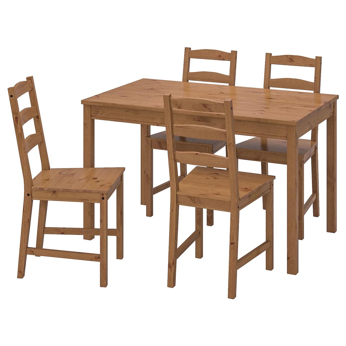 Allo stesso modo, vedrai tavole rotonde e tutti i tipi di forme. Jokkmokk Tavolo E 4 Sedie Mordente Anticato Ikea Svizzera
