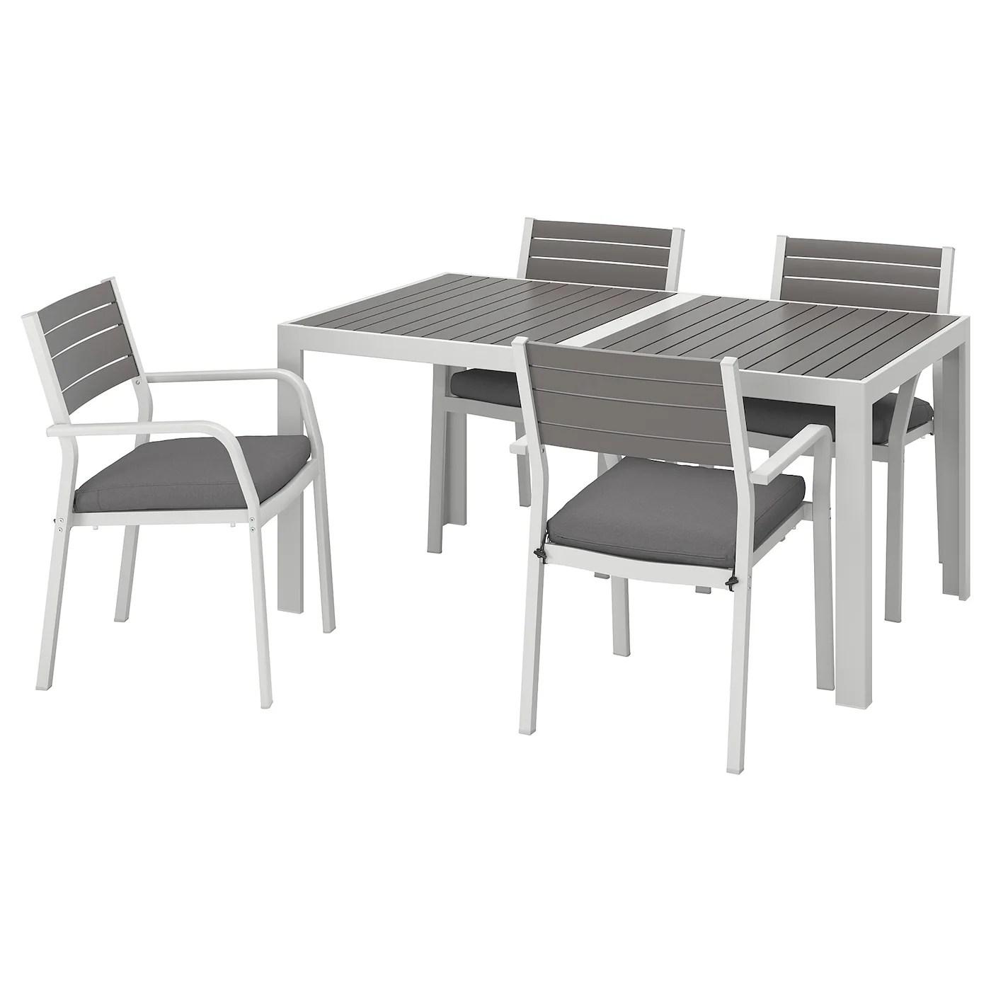 tavoli e sedie da giardino 2 sedie ikea tavolo2 sedie e ombrellone in 29019 san. Sjalland Table 4 Chairs W Armrests Outdoor Dark Grey Froson Duvholmen Dark Grey Ikea