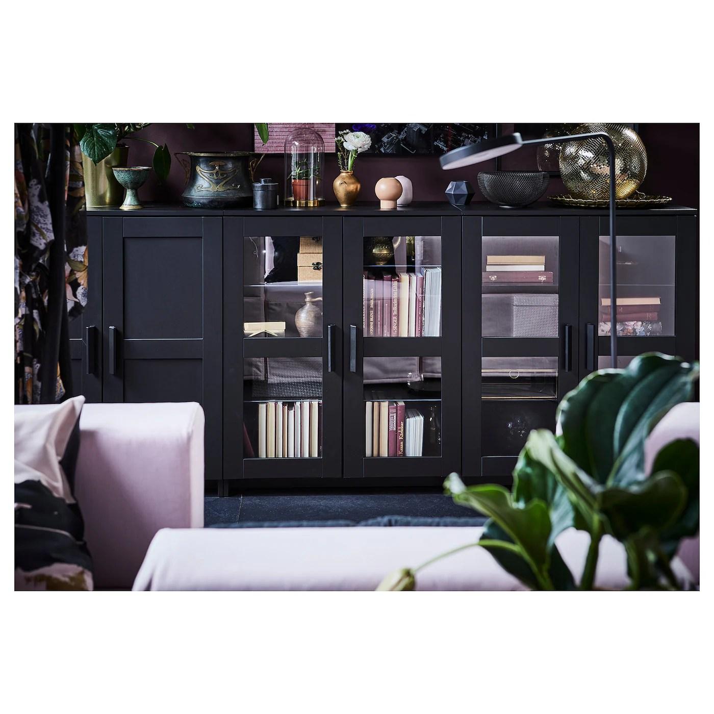 BRIMNES Schrank mit Türen, schwarz, 78x95 cm   IKEA ...