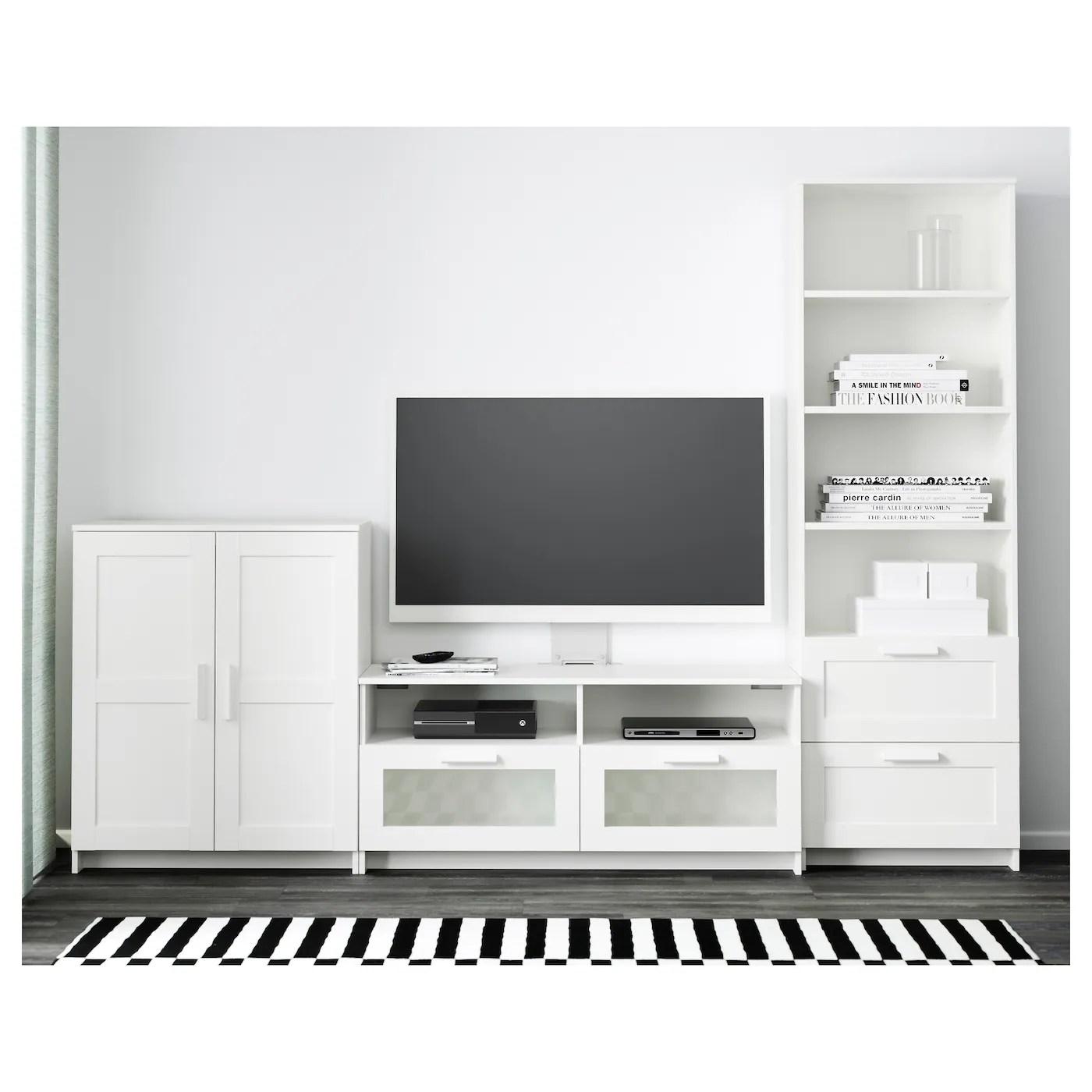 brimnes tv mobel kombination weiss 258x41x190 cm