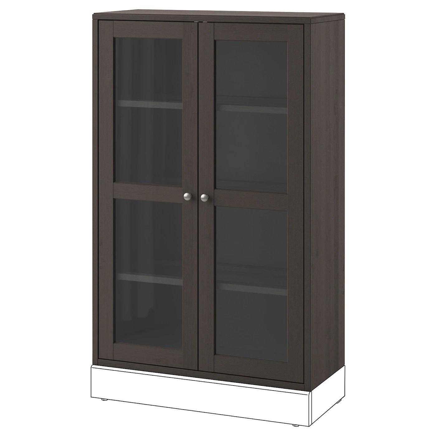 havsta vitrine dunkelbraun 81x35x123 cm