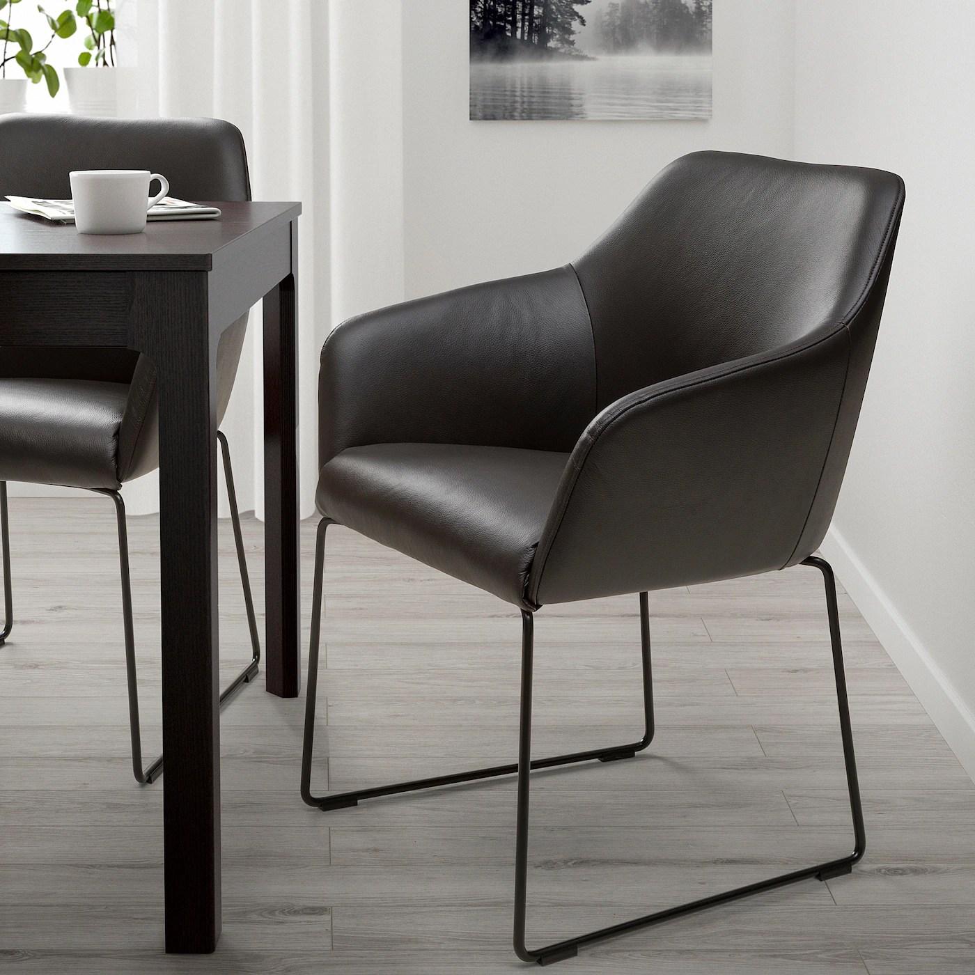 TOSSBERG Stuhl   Metall schwarz, Grann dunkelbraun   IKEA