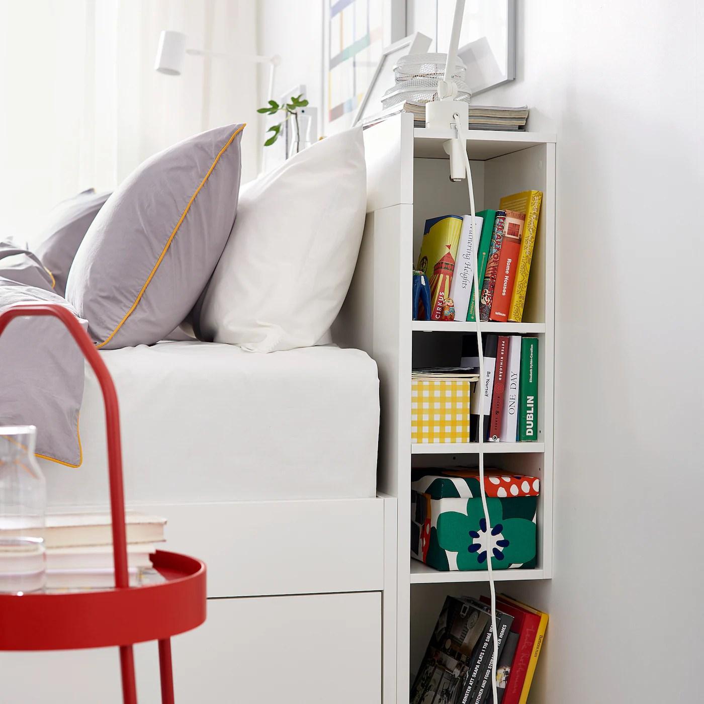 Brimnes Sengegavl Med Opbevaring Hvid 140 Cm Ikea