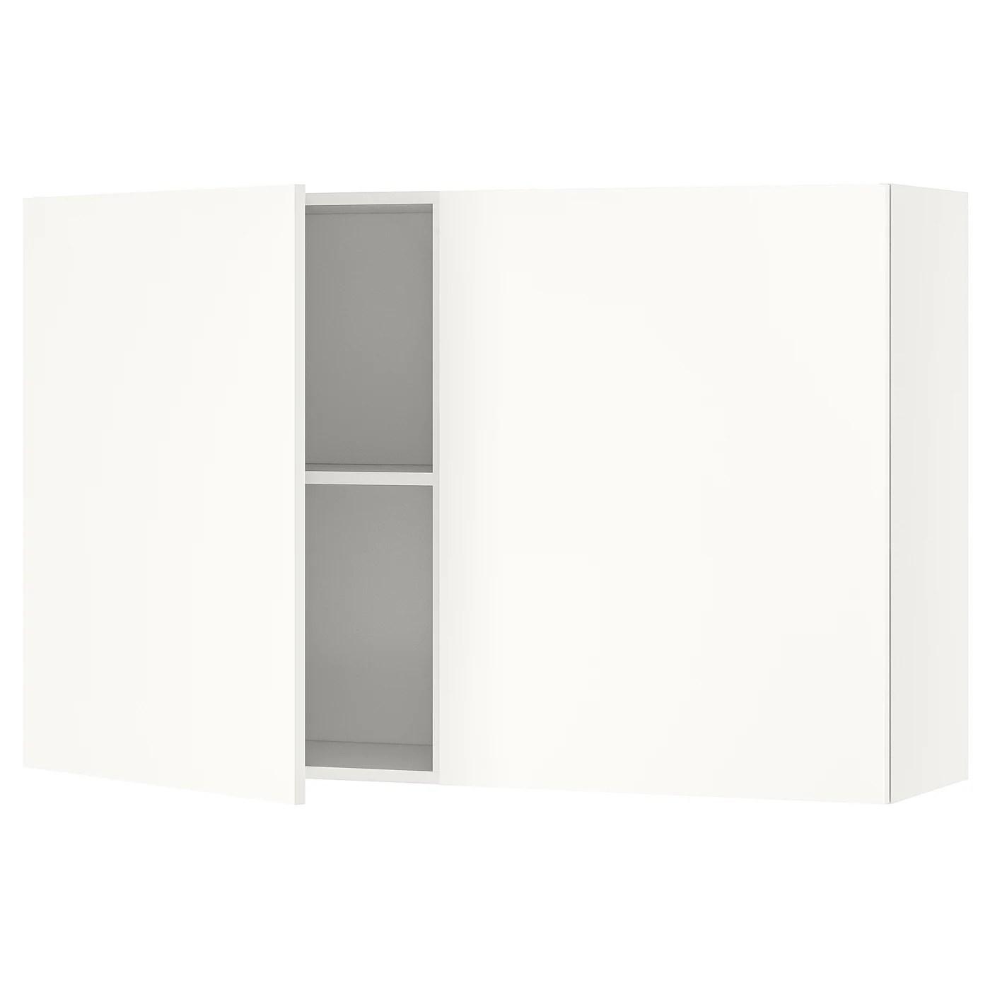 Knoxhult Vaegskab Med Lager Hvid Ikea
