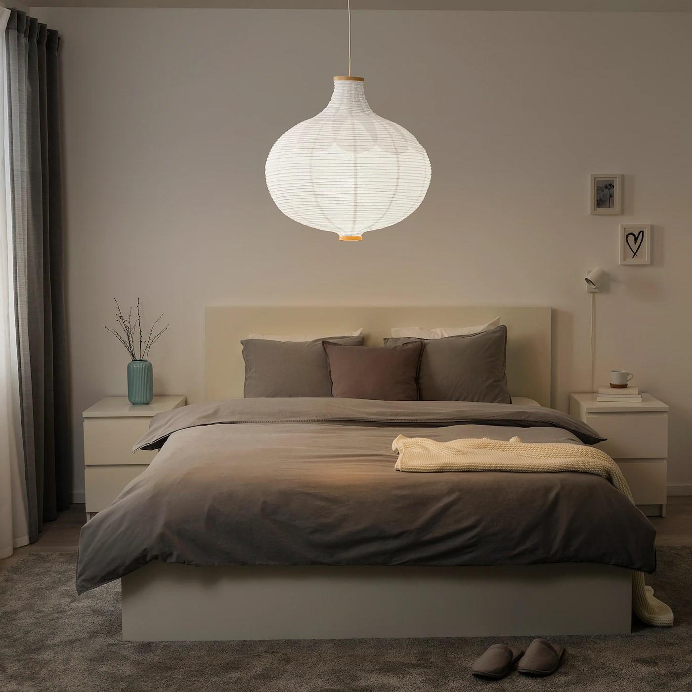 Risbyn Loftlampeskaerm Logformet Hvid 57 Cm Ikea