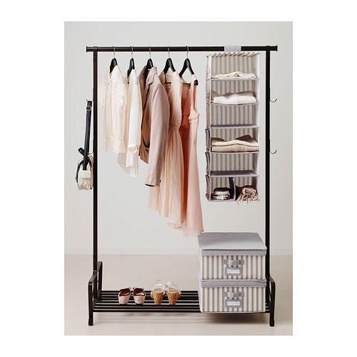 SVIRA Almac colg 7 comp IKEA Con bolsillos laterales para que guardes cosas pequeñas. El cierre de velcro te permite colgarlo y quitarlo fácilmente.