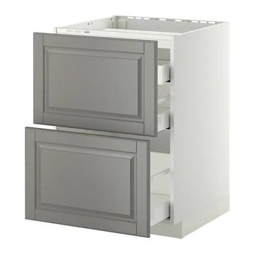 METOD / MAXIMERA Pöytäkaappi keittotas/2 esrj/3 lt IKEA Vaimentimien ansiosta ovet/laatikot sulkeutuvat hitaasti, hiljaa ja pehmeästi.