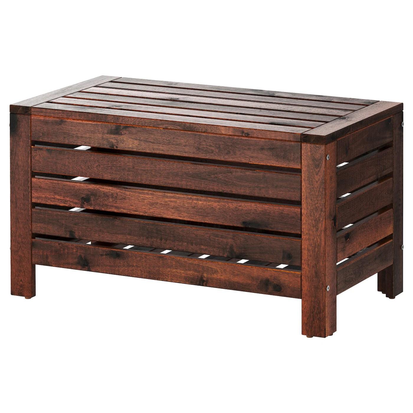 applaro banc rangement exterieur teinte brun 80x41 cm