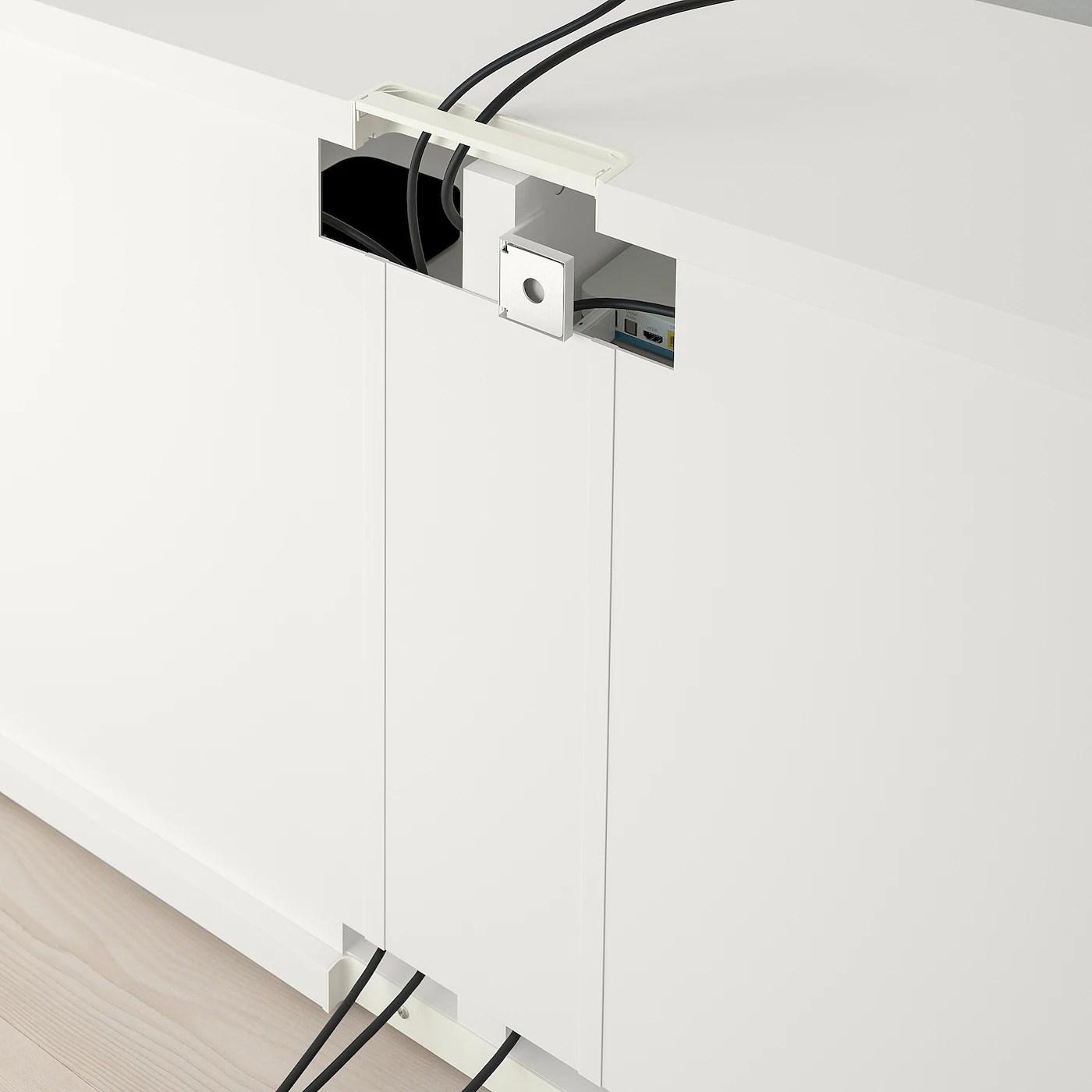 besta banc tv blanc 120x40x64 cm