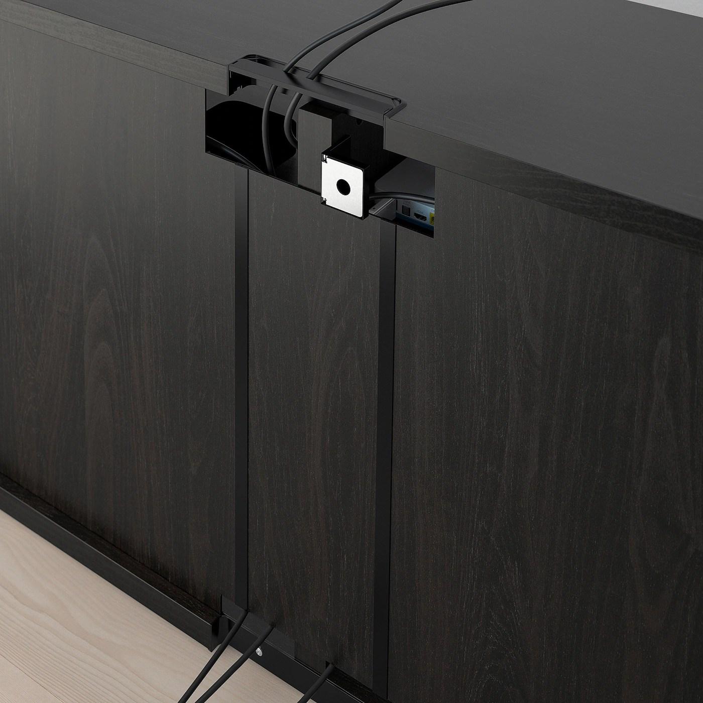 besta banc tv brun noir 120x40x64 cm
