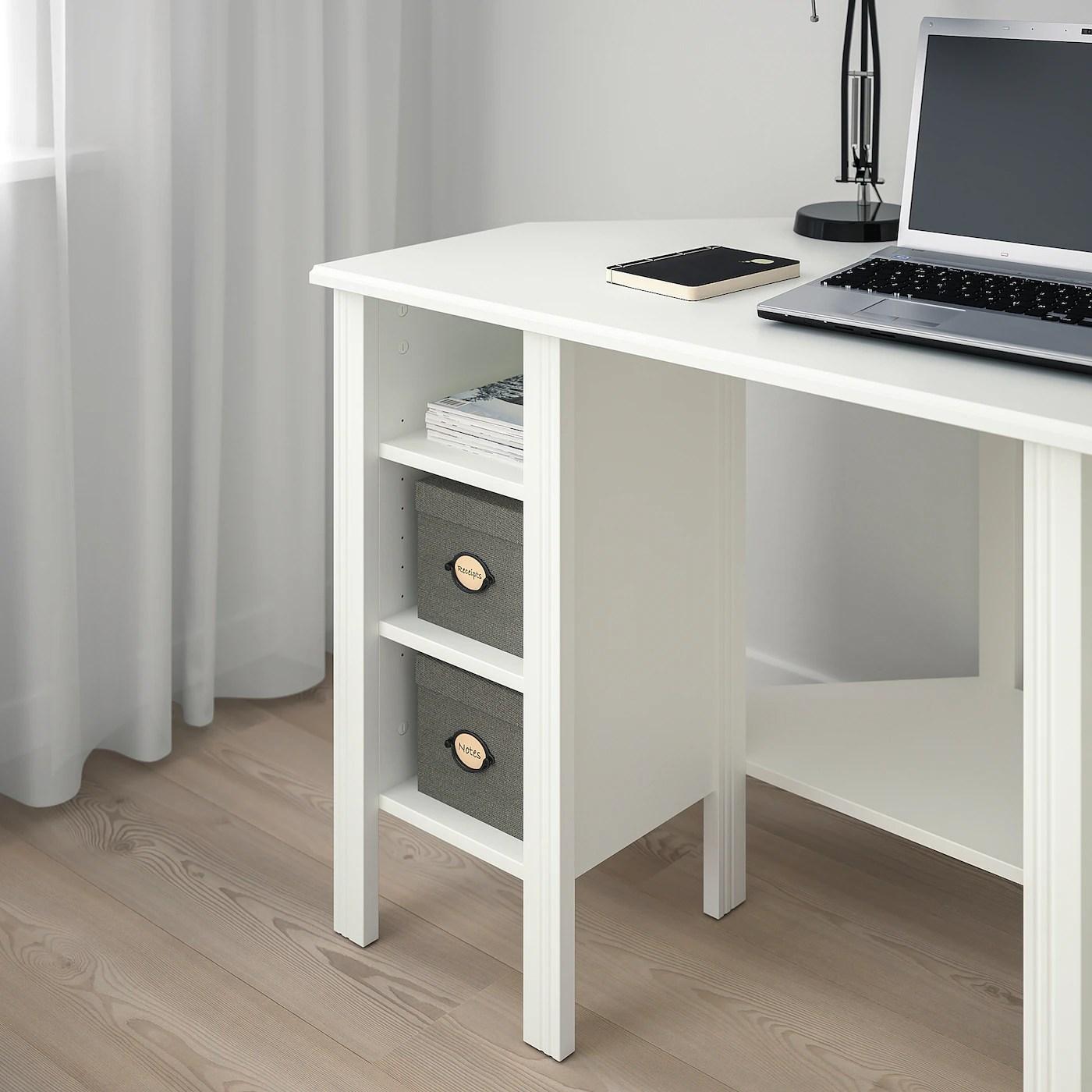 brusali bureau d angle blanc 120x73 cm