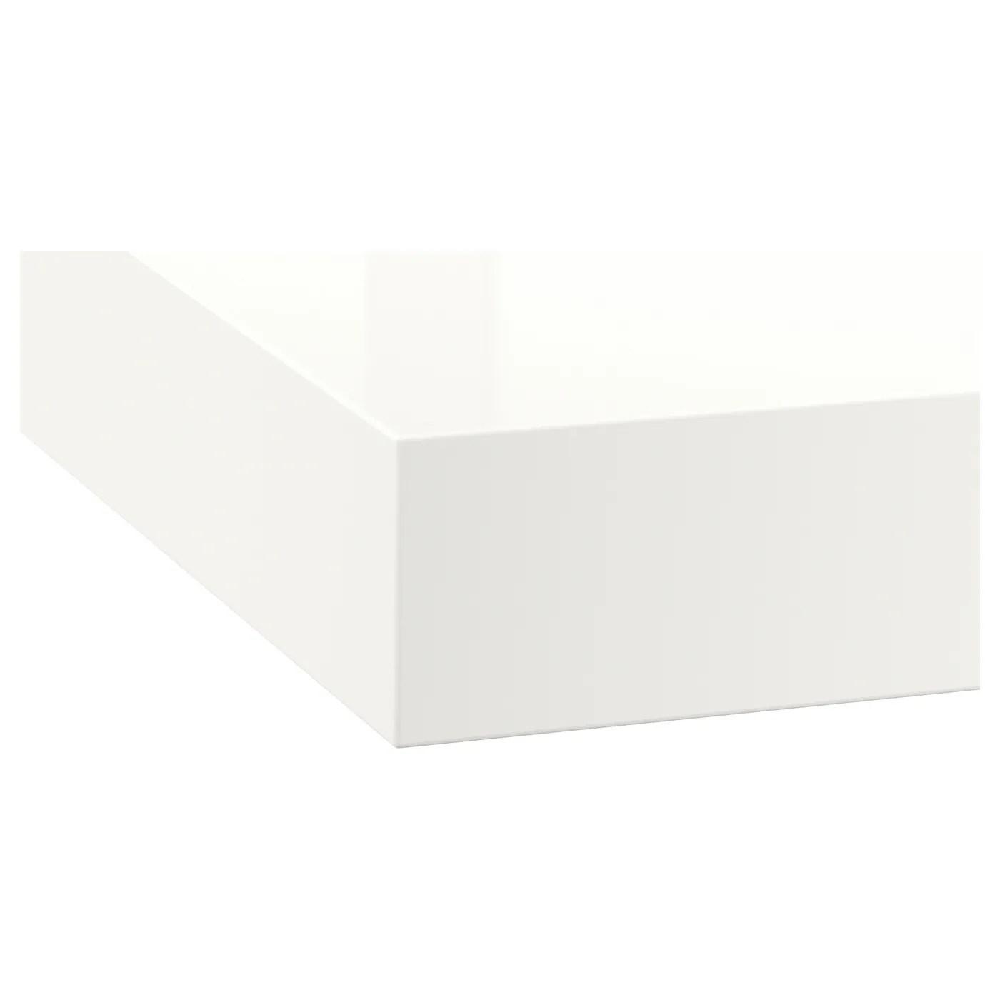 Deje Plan De Travail Sur Mesure Blanc Brillant Stratifie 63 Ikea