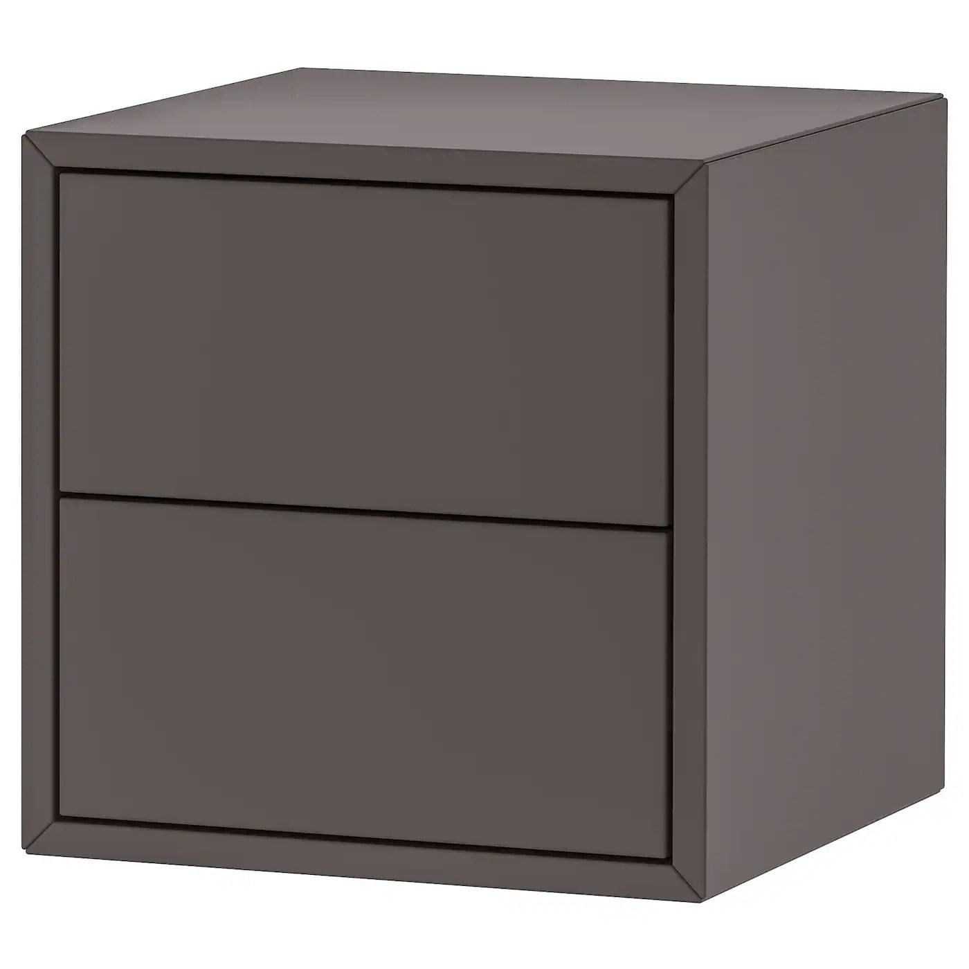 eket rangement 2 tiroirs gris fonce 35x35x35 cm