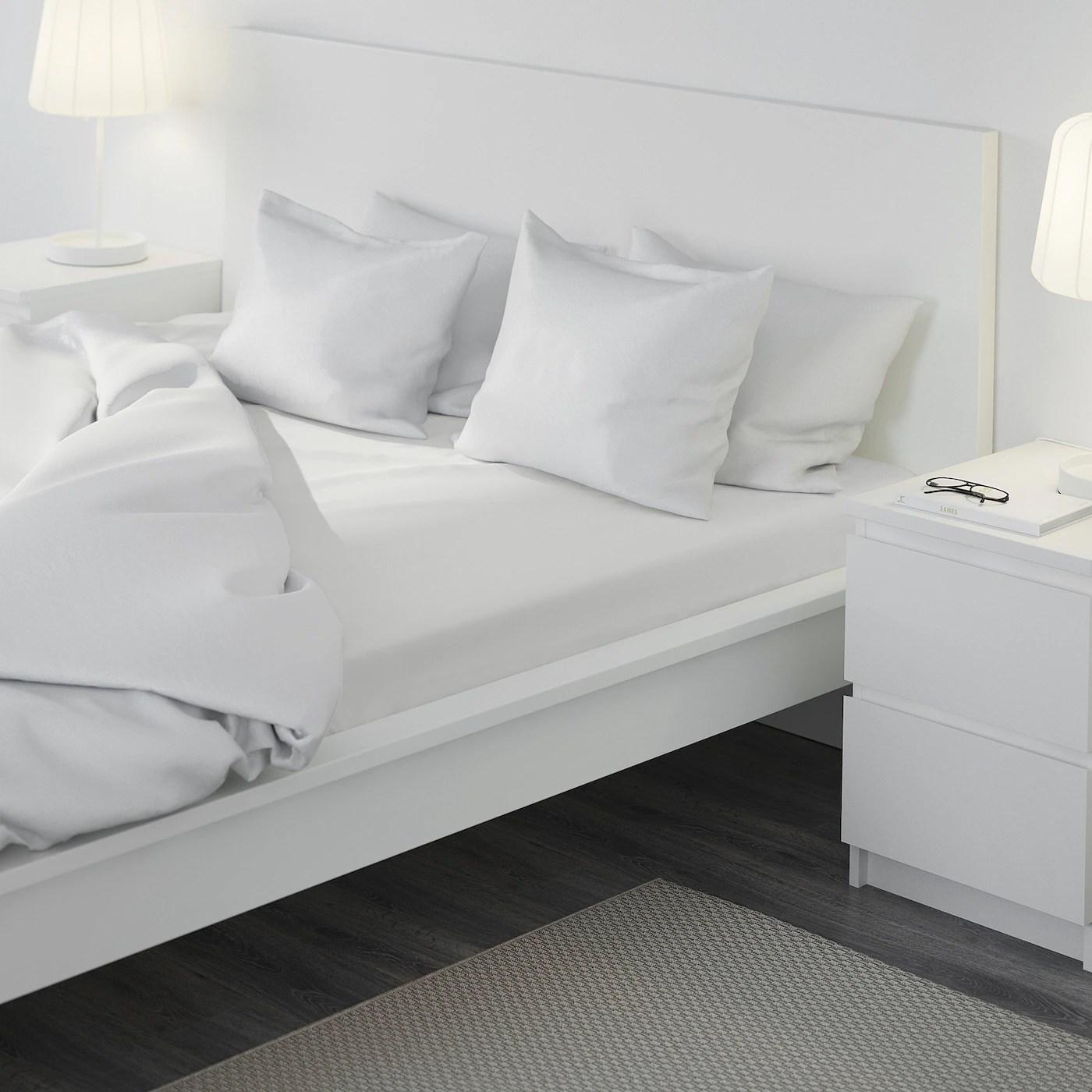 Fargmara Drap Housse Blanc 180x200 Cm Ikea