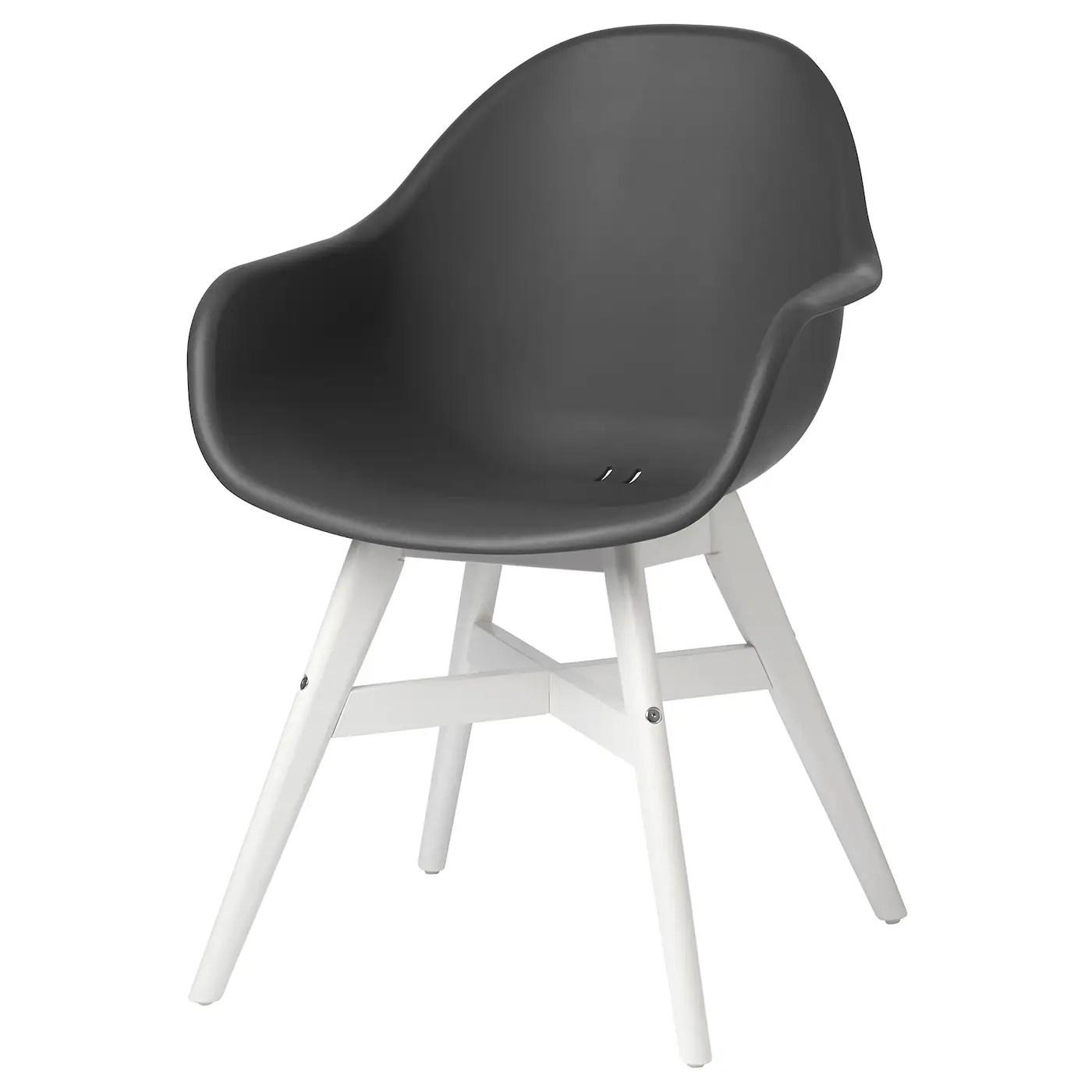 fanbyn chaise a accoudoirs gris blanc interieur exterieur