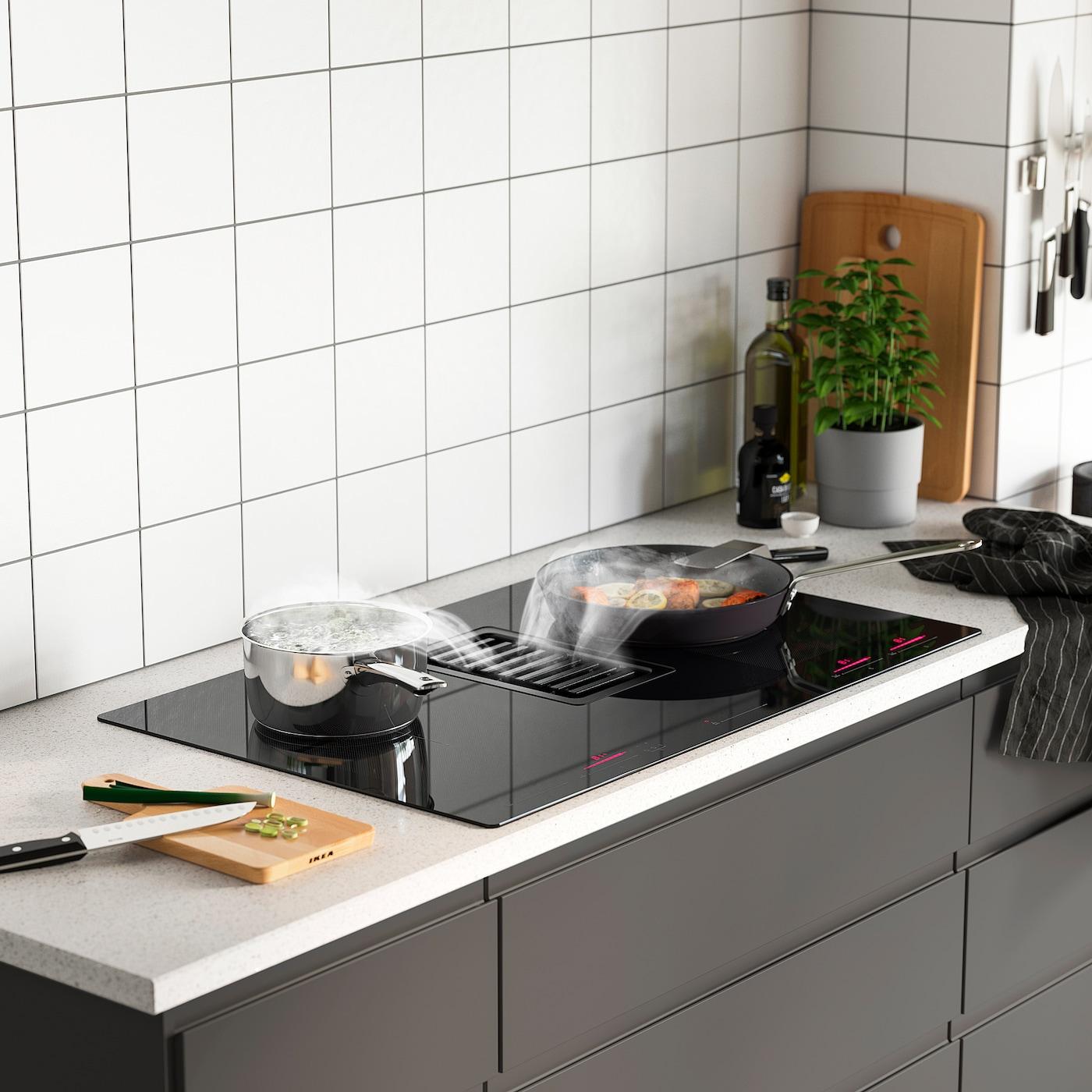 fordelaktig table de cuisson av hotte integree ikea 700 noir 83 cm