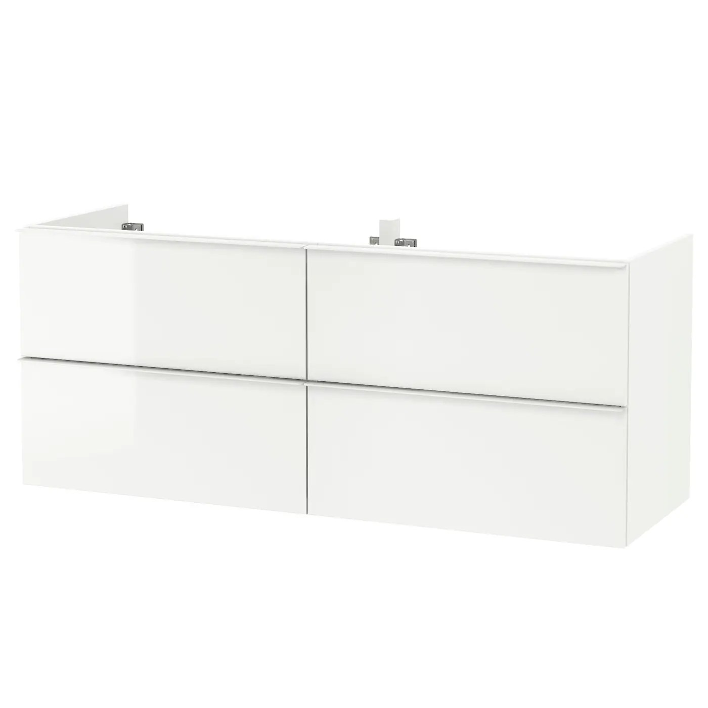 godmorgon meuble lavabo 4tir brillant blanc 140x47x58 cm