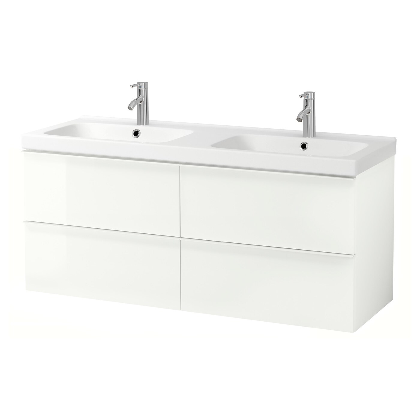 Godmorgon Odensvik Meuble Lavabo 4tir Brillant Blanc Dalskar Mitigeur Lavabo 143x49x64 Cm Ikea