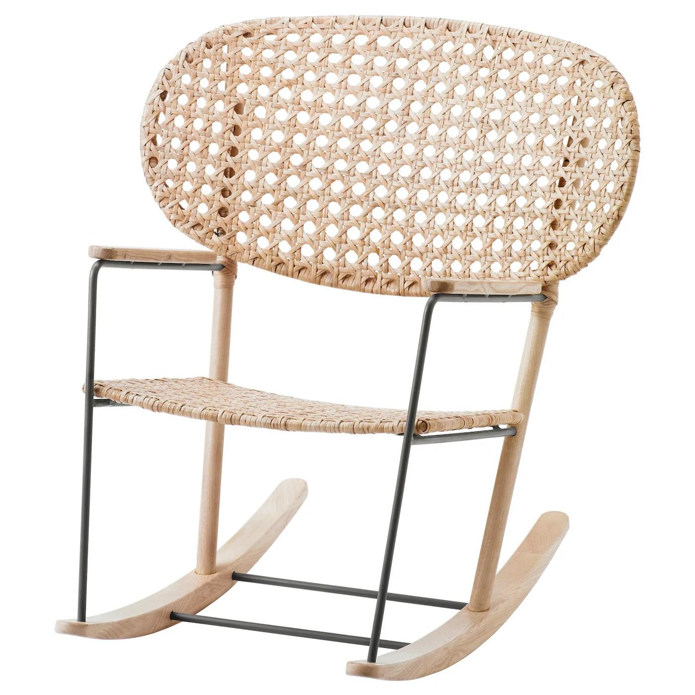 gronadal fauteuil a bascule gris naturel