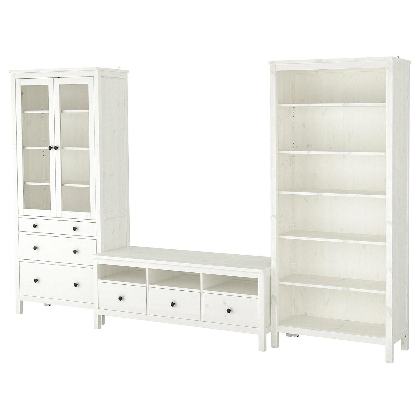 hemnes combinaison meuble tv teinte blanc verre transparent 326x197 cm