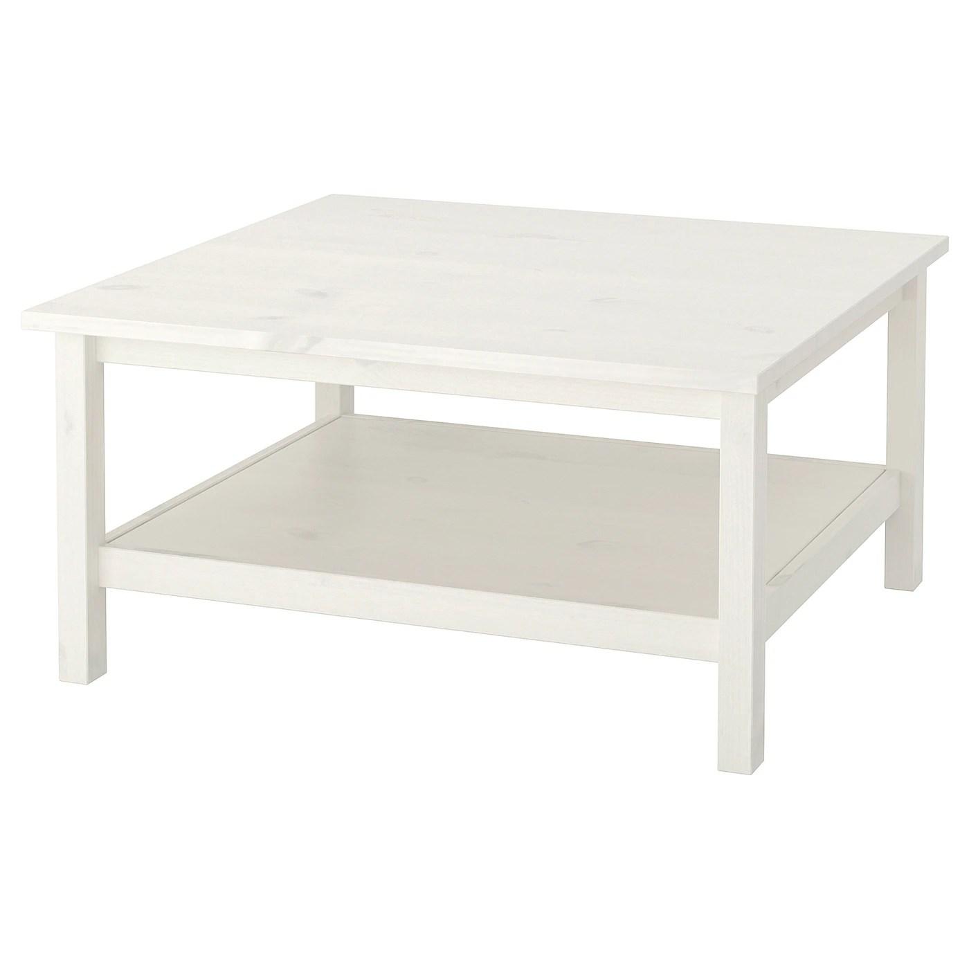 hemnes table basse teinte blanc 90x90 cm